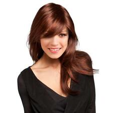 "Copper Red 24"" Women Girls Long Straight Synthetic Hair Wigs with Cap Bang"