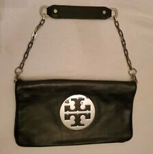 Tory Burch REVA Black Leather Clutch & Shoulder Bag
