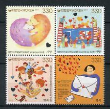 La Corée du Sud 2017 MMH TIMBRE concours bloc 4 V hérissons timbres
