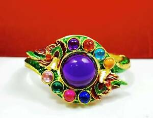Bracelet Naga Gems Dragon 9 Colors Talisman Bangle Vintage Thai Protect Amulet