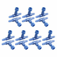 Fish Tank 2 Way Tubing Air Flow Control Valve Connector 14PCS