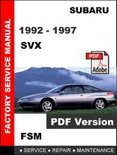 SUBARU SVX 1992 - 1997 FACTORY SERVICE REPAIR MANUAL + ELECTRICAL WIRING DIAGRAM