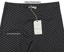 New Womens Marks & Spencer Black & Grey Leggings Size 14 Medium