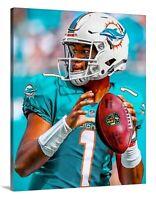 Tua Tagovailoa Canvas 16x20 Miami Dolphins Alabama Football Marino Quarterback 1