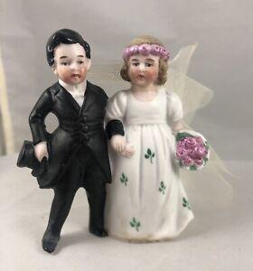 Antique Wedding Cake Topper Bisque Bride Groom Hertwig & Co Germany