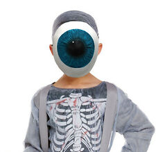 BOYS KIDS EYEBALL MONSTER ALIEN MASK LATEX BOOK WEEK HALLOWEEN FACE MASQUE NEW
