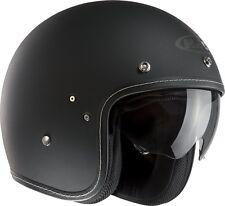 HJC Fg-70s Open Face Motorcycle Helmet Moped Scooter Bike Motorbike Lightweight Black L F7mbl