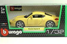 Bburago 43003 Porsche Cayman S - Giallo - METAL Scala 1:32