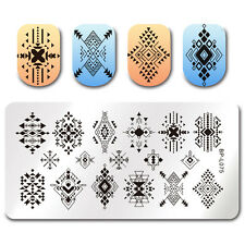 Nail Art Stamping Plate Triangle Rhombus Image Stamp Template Decor BORN PRETTY
