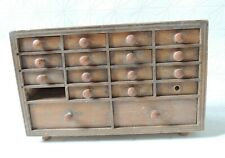 Layette d'horloger - Meuble de métier ancien - tiroirs en bois