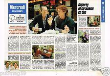 Coupure de presse Clipping 1988 (2 pages) Anny Duperey et Bernard Giraudeau