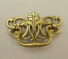 Antiqued Brass Tone Drawer Pull Foliage and Arabesque Tropical