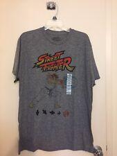 NWT Capcom Street Fighter Men's Graphic T-Shirt Ryu Fireball Hadouken shirt sz L