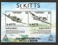 St Kitts SC # 289 50th Anniversary Of The Battle Of Britain . MNH