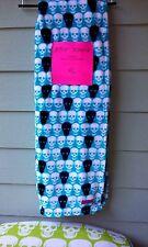 Betsey Johnson Oversized Ultra Soft Skull Plush Throw with Wooden Hanger