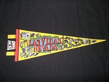 "Las Vegas Nevada Casino Pennant 5"" x 14 1/2"" Vintage Felt Flag Sahara Dunes"