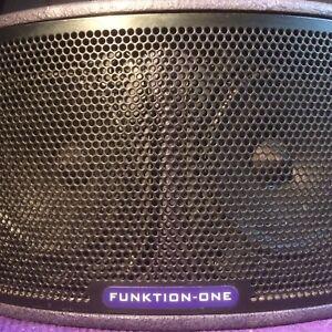 Funktion One F55 compact full range loudspeakers one pair..