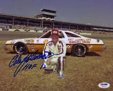Cale Yarborough SIGNED 8x10 Photo + HOF 12 NASCAR LEGEND PSA/DNA AUTOGRAPHED