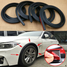 4pcs Black 1.5m Car Wheel Fender Extension Moulding Flares Trim Strip Edge SUV