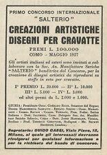 W3530 1° Concorso Internazionale SALTERIO disegnatore cravatte - Pubblicità 1927