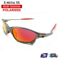 X-Metal XX Sunglasses Alloy Frames Polarized Ruby Iridium - Fit Oakley Lenses