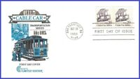 US #2263 U/A HOUSE OF FARNAM FDC STR2  Cable Car