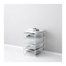 USEFUL IKEA ALGOT Frame/4 mesh baskets/top shelf, white 41x60x72 cm