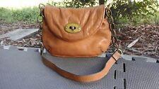 FOSSIL Brown MINI Leather Handbag Clutch Shoulder Bag