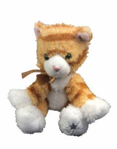 """Russ Berrie Shining Stars Calico Tabby Cat 8"""" Plush Stuffed Animal"""