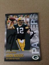 Aaron Rodgers HAND SIGNED ON CARD 2014 Team Police Card w/COA EXTREMLEY RARE