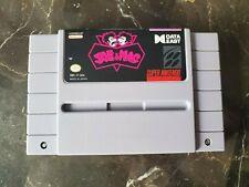 Joe & Mac - Super Nintendo SNES - Game only -- Authentic & Original