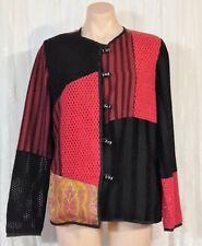 ALEX KIM SIZE M PATCHWORK  FULLY LINED JACKET