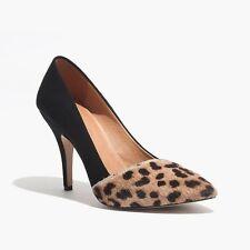 Madewell The Mira Heel in Leopard Pumps Size 8 B5492 Black Heels Calf Hair $188
