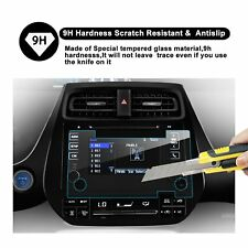 LFOTPP 2016 Toyota Prius 7In In-Dash Screen Protector HD Clear Tempered Glass