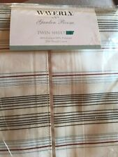 Waverly Garden Room Stripe Spring Blossom Vintage Twin Flat Bed Flat Sheet New