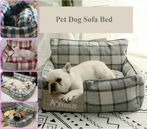 New Soft Comfortable Pet Bed Sofa Cotton Kennel Puppy Cat Small Medium Large Dog