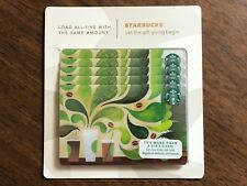 Starbucks Gift Card 2012 Pack of Five (5) Swirl Steam Cups Holiday No $ Value