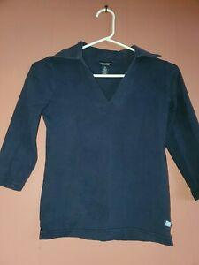 American Eagle Outfitters Women's Junior XS Navy Blue Stretch Top