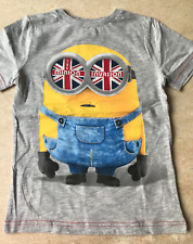 "T-SHIRT ""MINIONS"" GRIS - TAILLE : 5/6 ANS (116)"