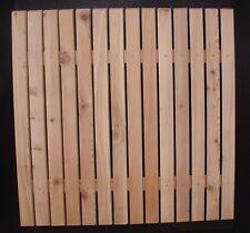 Zaunlatte Gartenzaun Holzzaun Rhombus Latte Nr. 6 in versch. Längen Lärche Holz