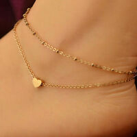 1PC Women Gold Plated Ankle Chains Anklet Bracelet Sandal Beach Foot Jewelry