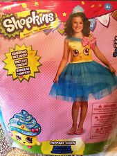Shopkins Cupcake Queen Halloween Costume Child Size Large 4-6X New!