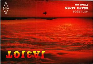 Vtg Ham Radio CB Amateur QSL QSO Card Postcard JA3JOT OSAKA JAPAN 1996