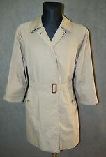 Womens Burberry Burberrys Wool Bespoke Short Trench Coat Mac Beige Jacket Sz L