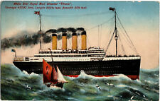 RMS Titanic Pre Sinking Post Card State Series White Star Line Interest