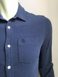 Penguin Shirt, Knit Button-Down, Medium, Heritage Slim Fit, Navy, Excellent Cond