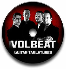 Volbeat METAL ROCK GUITAR schede tablature SONG BOOK Libreria software CD