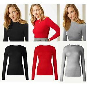 Ladies Ex M&s Women Viscose Round Neck Jumper Sweater Top 12 14 16 18 20 22