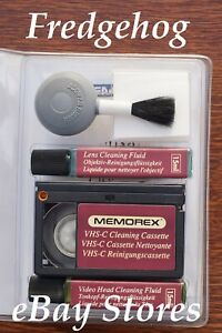 Memorex Vhs-C / S-VHS-C Camcorder Nass & Trocken Kopf Reiniger Tape / Kassette