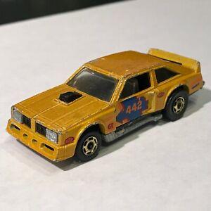 Hot Wheels Flat Out Vintage Original 1978 Gold w/ Blue Orange Decals Loose Good